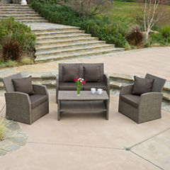 Dunes 4-pc. Outdoor Wicker Conversation Set