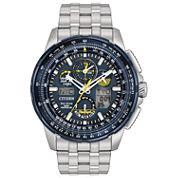 mens bracelet watches for shops jcpenney citizen mens silver tone bracelet watch jy8058 50l