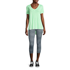 City Streets® Short-Sleeve Drapey Core Tee or Performance Cropped Pants