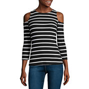 i jeans by Buffalo Cold-Shoulder Rib Tee