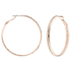 Decree Clear Hoop Earrings
