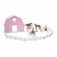 Pink Barn Horse Set