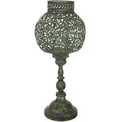 Oriental Furniture Green Patina 3-pc. Candle Holder