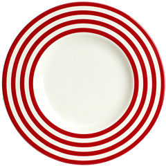 Red Vanilla Freshness Lines Salad Plate