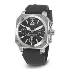 Wrist Armor® C4 Mens US Army Rubber Strap Swiss Watch