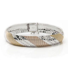 Made in Italy Tri-Tone Flex Bracelet