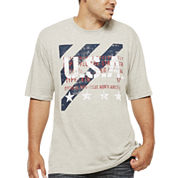 Lee® Short-Sleeve USA Stripe Cotton Tee