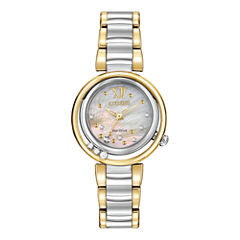 Citizen® Eco-Drive® Womens Diamond-Accent Two-Tone Watch EM0324-58D