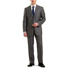 JF J. Ferrar® Gray Sharkskin Suit Separates - Big & Tall