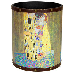 Oriental Furniture Klimt The Kiss Waste Basket