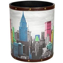 Oriental Furniture Highlights Of New York Waste Basket