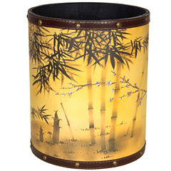 Oriental Furniture Bamboo Tree Waste Basket