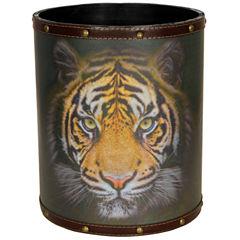 Oriental Furniture Bengal Tiger Waste Basket