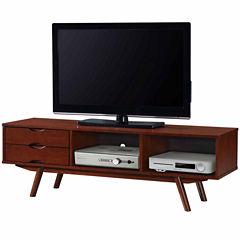 RTA Products LLC Techni Mobili Elegant Wood Veneer TV Stand