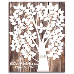 Our Family Tree Canvas Guest Book