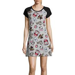 Disney Jersey Short Sleeve Nightshirt-Juniors