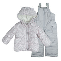 Carter's Heavyweight Leopard Snow Suit-Toddler Girls
