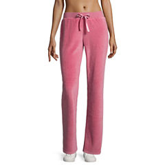 Flirtitude Velour Lounge Pants- Juniors