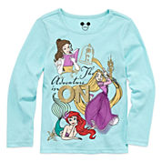 Disney Apparel by Okie Dokie® Long-Sleeve Princess Tee - Toddler Girls 2t-5t