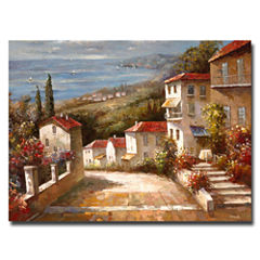 Home in Tuscany Canvas Wall Art