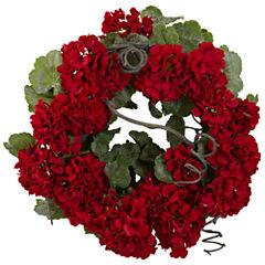 """17"""" Geranium Wreath"""