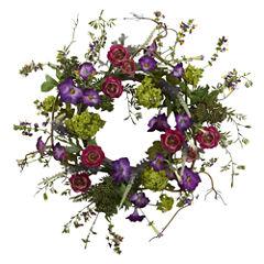 Nearly Natural 20 Veranda Garden Wreath