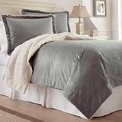 Faux Micro Mink Sherpa 3-pc. Comforter Set