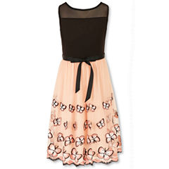 Speechless Sleeveless Dress with Butterfly Border - Girls' 7-16