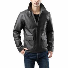 Hero Pebbled Cowhide Leather Blazer Tall