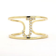 Sparkle Allure Adjustable Gold J Band