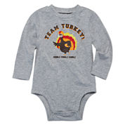 Okie Dokie® Long-Sleeve Graphic Bodysuit - Baby Boys newborn-24m