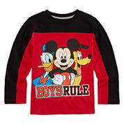 Okie Dokie® Mickey Mouse Long-Sleeve Tee - Preschool Boys 4-7