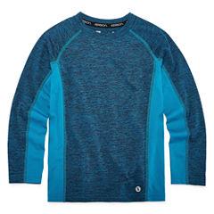 Xersion Melange Long Sleeve Crew Neck T-Shirt-Preschool Boys