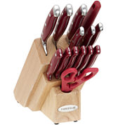Farberware® 15-pc. Red Forged Knife Set