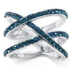 Sterling Silver Blue Crystal Multi