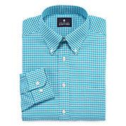 Stafford® Travel Long-Sleeve Wrinkle-Free Oxford Dress Shirt