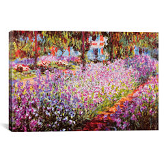 Jardin De Giverny by Claude Monet Canvas Wall Art