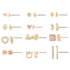 Decree 12-pc. Multi Color Earring Sets