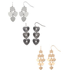 Decree 3-pc. Clear Earring Sets