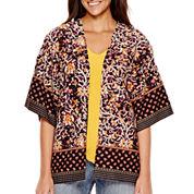 Liz Claiborne® 3/4-Sleeve Print Kimono