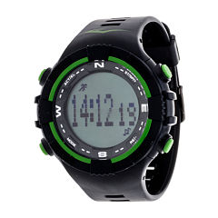 Everlast Black and Green Pedometer Watch