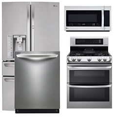 LG 4-pc. Gas Kitchen Package- Stainless Steel