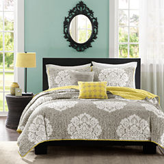 Intelligent Design Ciara Damask Quilt Set
