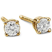 1/5 CT. T.W. 14K Gold Round Diamond Studs