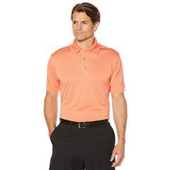 PGA Tour N/A Short Sleeve Stripe Mesh Polo Shirt