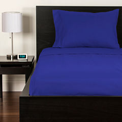 Crayola Blue Berry Blue Microfiber Sheet Set