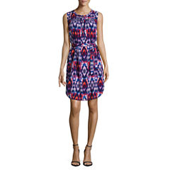 Liz Claiborne Sleeveless Shirt Dress