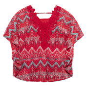Speechless® Print Circle Crochet Lace Top - Girls 7-16