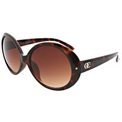 Oleg Cassini Full Frame Round UV Protection Sunglasses-Womens
