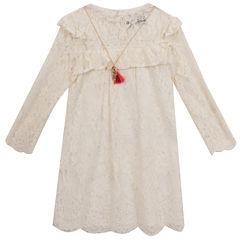 Rare Editions Long Sleeve Sheath Dress - Big Kid Girls